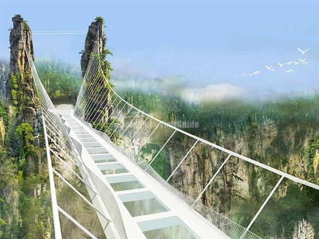 Cây-cầu-treo-ở-Trương-Gia-Gioi