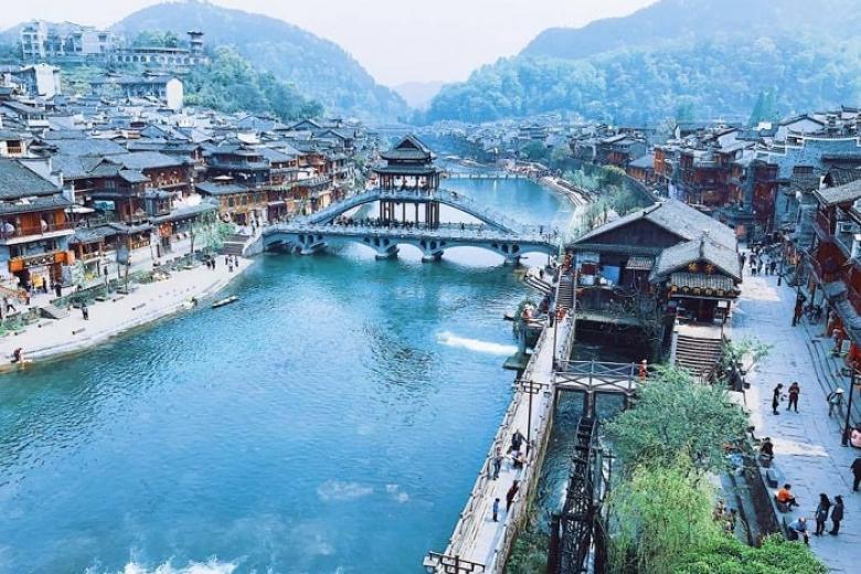 Vẻ đẹp của thị trấn cổ Trung Quốc.